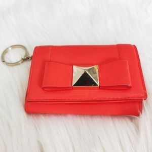 Kate Spade Keychain Wallet in red/coral